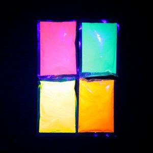 UV holi colour powders Neon paint powder glow in the dark