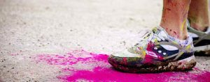 clean powder paint colour run