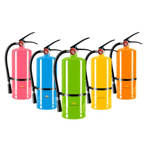 colour powder paint extinguisher