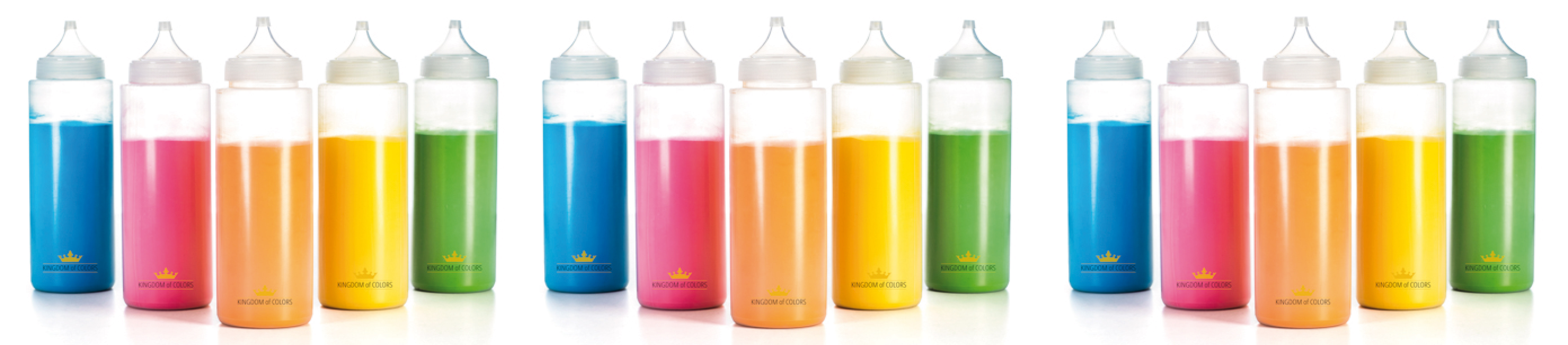 Holi Colour squeeze bottles
